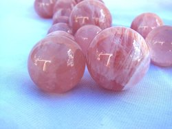 Top Red Rose Quartz Sphere - 40mm - 2pcs