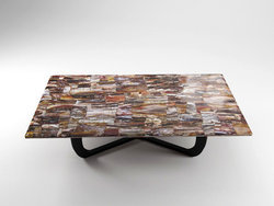 Petrified Wood Table Top - Longitudinal Cut (140 x 83 x 3 cm)