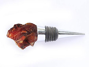 Carnelian Bottle Stoppers - Rough Top