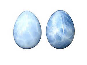 Blue Calcite Eggs - 50mm
