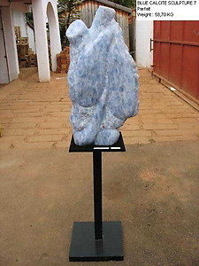 Blue Calcite Sculpture