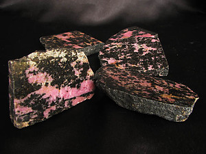 Rhodonite Polished One Face - 1 lb