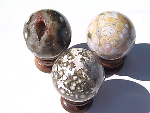 50 - 60 mm Sea Jasper Sphere